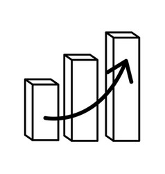 financial chart bars arrow vector image