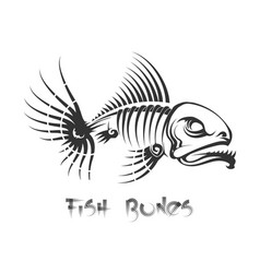 Fish bones tattoo vector