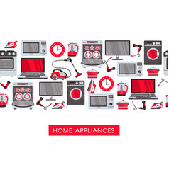 Flat home appliance sale icon vector