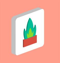 flower pot cactus computer symbol vector image
