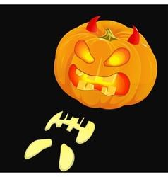 Glowing Jack OLantern Halloween pumpkin vector image vector image