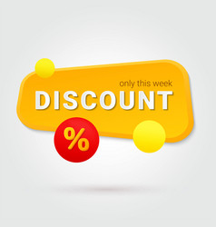 gold discount only this week special offer vector image