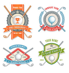 golf club logos vector image