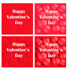 greeting cards of happy valentines day vector image