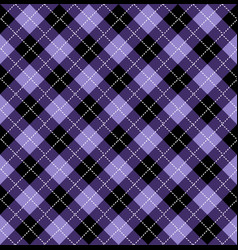 Halloween purple argyle seamless pattern design vector