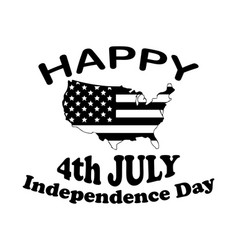 happy 4th july independence day text and american vector image