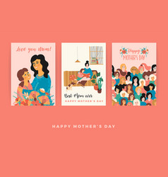 Happy mothers day templates for card vector