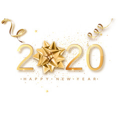 happy new 2020 year greeting card web banner or vector image