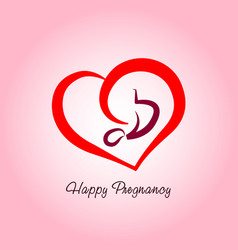 happy pregnancy logo vector image