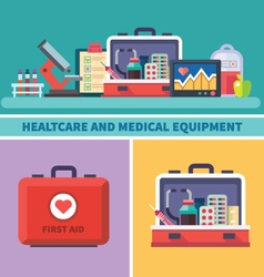 Health care and medical equipment vector image