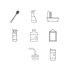 home appliances linear icon set simple outline vector image