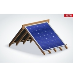 Icon Roof with Solar Panel Cover vector image