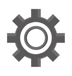 Industrial wheel cog industry symbol vector image