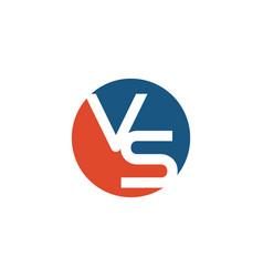 Initial vs logo template vector