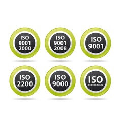 iso icons vector image