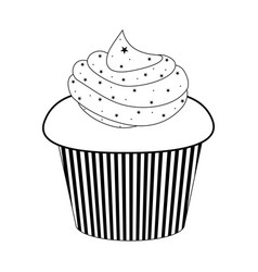 isolated cupcake icon vector image