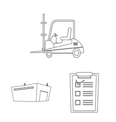 isolated object of goods and cargo sign vector image