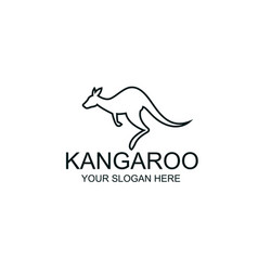 Jumping kangaroo icon vector
