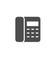 landline phone icon and contact symbol vector image