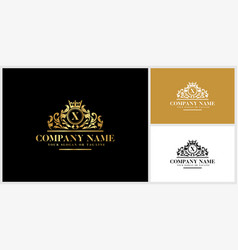 Letter x logo design luxury gold vector