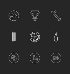 Medal compass skype wifi behance sports vector