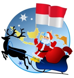 Merry Christmas Indonesia vector image