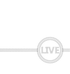 Mesh polygonal background Inscription - Live vector image