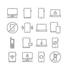 mobile devices mobility equipment electronic vector image