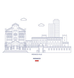 monaco-ville city skyline vector image
