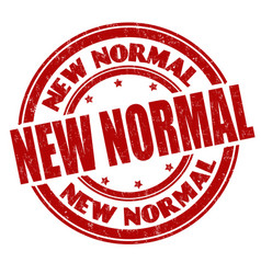 new normal grunge rubber stamp vector image