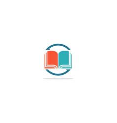 open book dictionary logo vector image