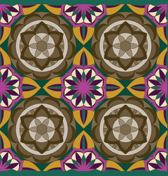 Ornate pattern with mandala elements vector