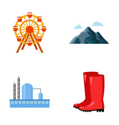 park oil refinery and other web icon in cartoon vector image