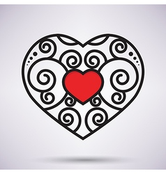Red heart icon vector