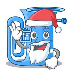 Santa miniature tuba in the shape cartoon vector