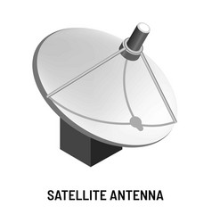 satellite antenna tv channels provision and vector image