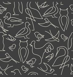 Seamless pattern made of birds vector