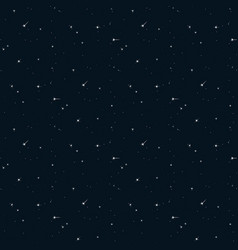 Seamless pattern sky with starlight vector