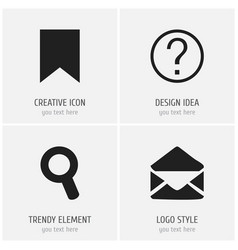 set of 4 editable web icons includes symbols such vector image