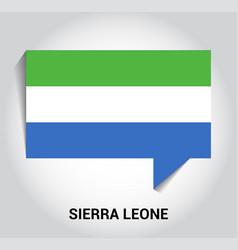 Sierra leone flag design vector