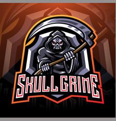 skull grime esport mascot logo vector image