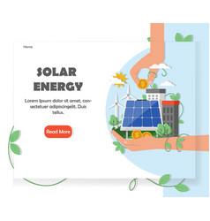 solar renewable energy website design vector image