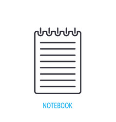 spiral notebook with notes outline icon vector image