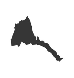 state of eritrea map vector image