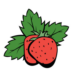 Strawberry icon cartoon vector