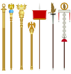Symbolism of the ancient roman legions vector
