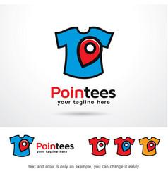 tees logo template vector image