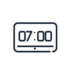 Time digital clock timer hour linear design vector