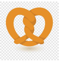 Traditional pretzel icon flat style vector