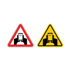 Warning sign of attention vertical video Dangers vector